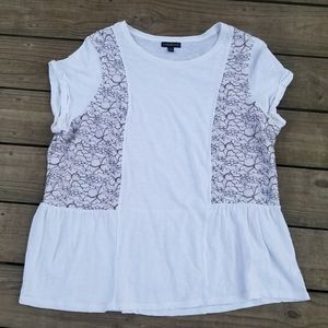 Lane Bryant baby doll lace detail t-shirt